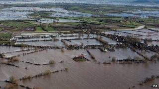 Flooding on the Somerset Levels