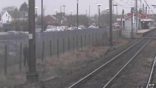 CCTV image of a man near to Newark Northgate Station