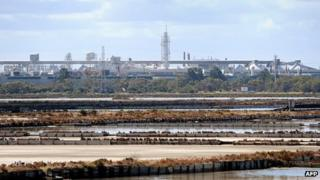 Alcoa aluminium plant at Point Henry, near the regional city of Geelong in Victoria.