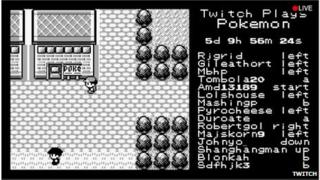 Screenshot of Twitch plays Pokemon