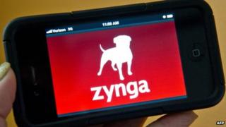 Zynga on smartphone