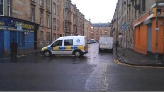 Police in Westmoreland Street, Glasgow