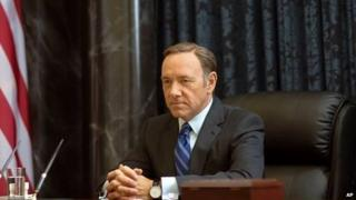 A publicity still of Kevin Spacey as Francis Underwood in the Netflix series House of Cards.