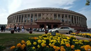 The Indian parliament has recently been the scene of unruly behaviour