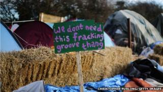 Anti-fracking camp at Barton Moss