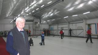 Ernest Fenton at the rink