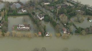 Flooded area near the River Thames