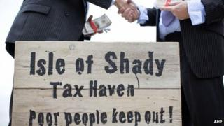 Protesters against tax evasion