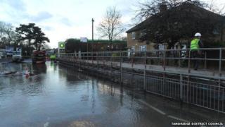 Bridge over A22 flood