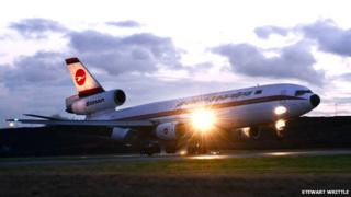 Biman Bangladesh Airlines DC-10 lands