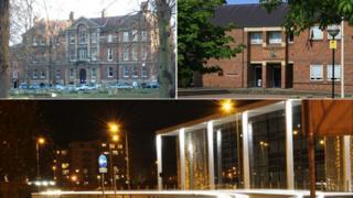 Bury St Edmunds' Magistrates' Court, Norwich combined courts, Ipswich Crown Court