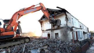 Norton Road demolition