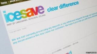 The Icesave website seen in October 2008