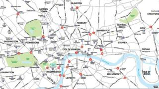 Map of junctions