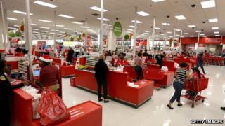 Target store check out counters