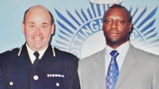 Former Chief Constable Steve Green with Trevor Gray