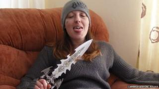 Joanne Dennehy with knife