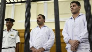 Awad Suleiman and Mahmoud Salah in court in September 2011