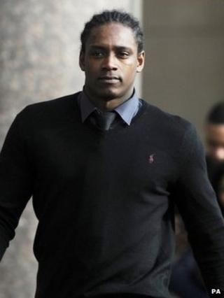 Nile Ranger leaving Newcastle Crown Court