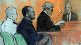 Court sketch of PC Blakelock murder trial