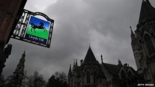 Lloyds banking sign