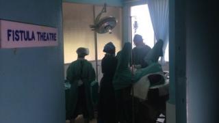 Dr Shane Duffy performs fistula surgery in Uganda