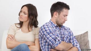 An arguing couple