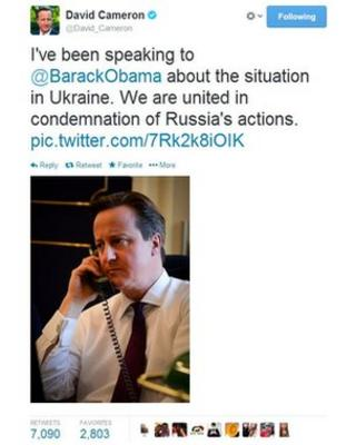 The tweet from @David_Cameron