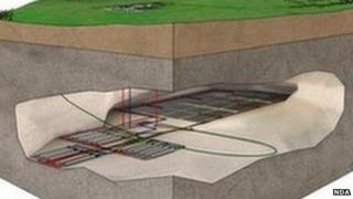 Nuclear waste repository image