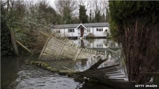 Flood damage in Shepperton