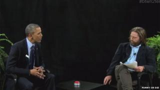 Barack Obama and Zack Galifianakis on Between Two Ferns