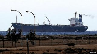 North Korean-flagged oil tanker at Sidra