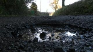 A pothole in Devon