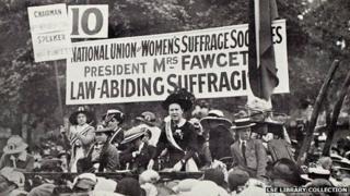 Millicent Fawcett's Hyde Park address in 1913