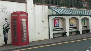 Street art paying tribute to Sir Edward Elgar