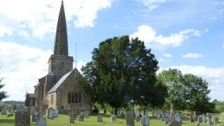 A village church in Somerset