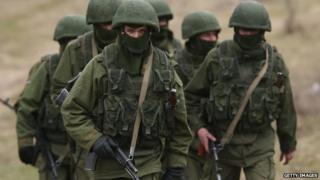 Unidentified soldiers in Crimean, 3 March 2014