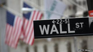 A sign saying Wall Street