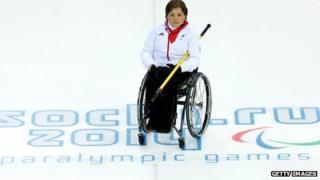Aileen Neilson on the ice at Sochi 2014