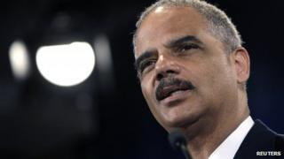US Attorney General Eric Holder appeared in Washington on 25 June 2013
