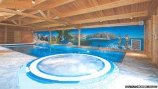 James Burdall's swimming pool