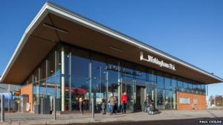 The new Wokingham Station building