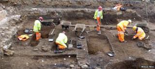Site of Fetter Street excavation