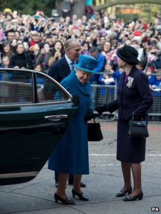 The Queen and Duke of Edinburgh visit Royal Holloway, London University