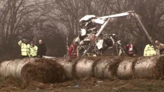 The scene of the crash that killed four people in Norfolk
