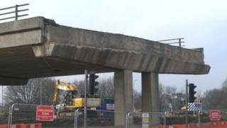 Belgrave flyover on 14 March
