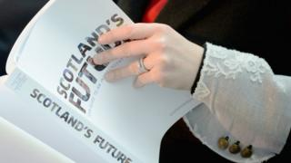 What does the White paper offer Scottish business after independence?