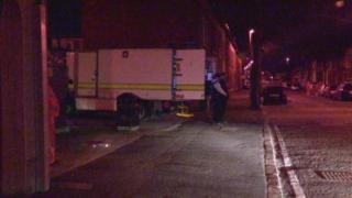 Police at scene of Belfast bomb alert