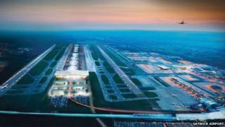 CGI of second Gatwick runway