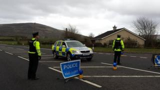 A car and a lorry were involved in the collision on the Broad Road